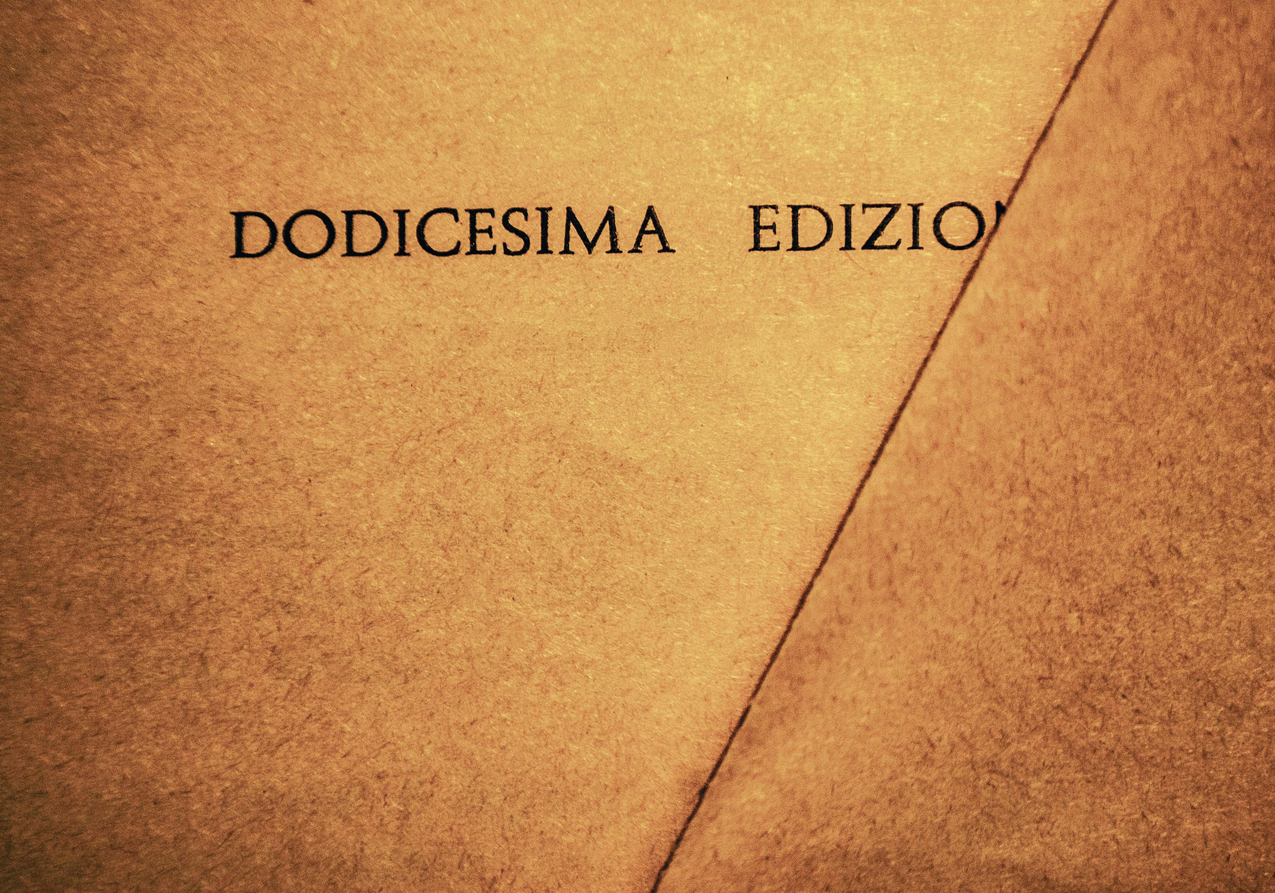 Luisa Menazzi Moretti, Dodici, 2013, Serie Words, cm 42x60