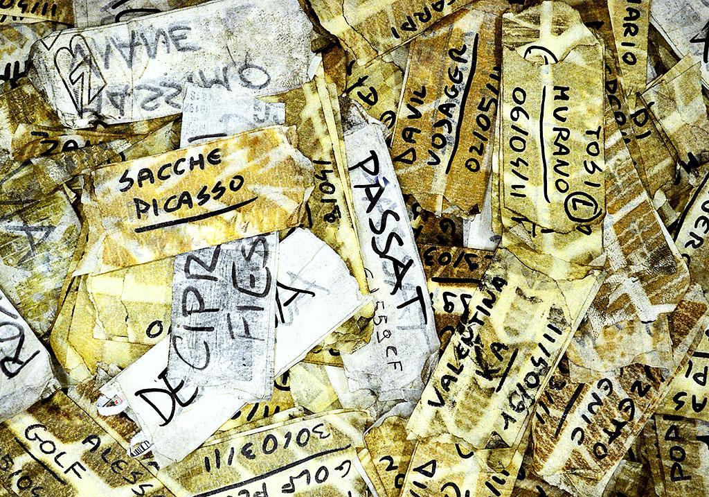 Luisa Menazzi Moretti, Scadenze, 2012, Serie Words, cm 42x60