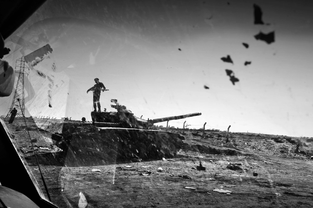 Ajdabiya tank captured by the rebels