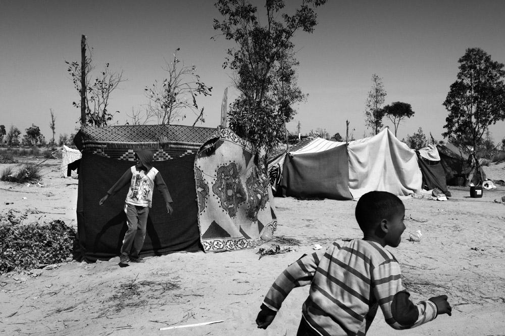 Libya, March-April 2011, Campo profughi