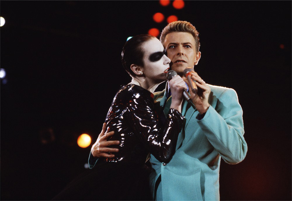 © Michael Putland, David Bowie, Annie Lennox, Concerto-tributo a Freddie Mercury, 1992