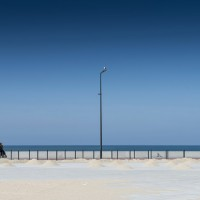 Espinho (P) – oceano, coppie e gabbiano solitario / marzo 2016